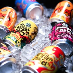 Funk Estate cans on ice