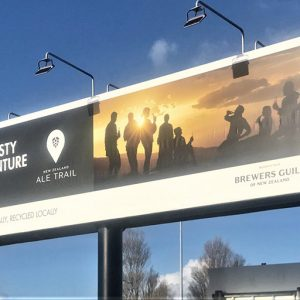 New Zealand Brewing Guild's billboard